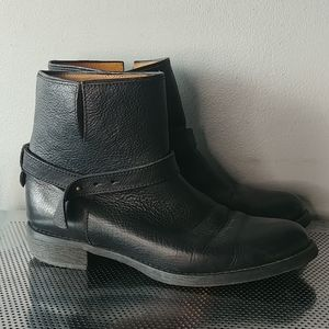 Madewell leather biker style boots size 9.5